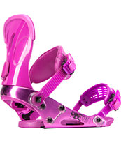 Ride VXn Pink 2014 Girls Snowboard Bindings