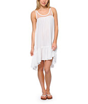 Rip Curl Clear Skies White Mesh High Low Dress