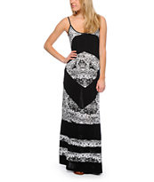 Rip Curl Light Hearted Black Maxi Dress