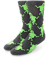 RipNDip Alien Dance Party Black Crew Socks