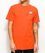 RipNDip Lord Nermal Safety Orange Pocket T-Shirt