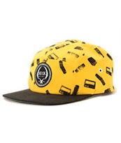 Rook 444 Yellow & Black 5 Panel Hat