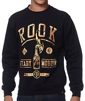 Rook Steady Mobbin Black Crew Neck Sweatshirt