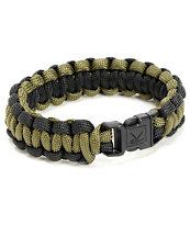 Rothco Paracord Olive Green & Black Bracelet