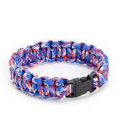 Rothco Paracord Red, White, & Blue Bracelet