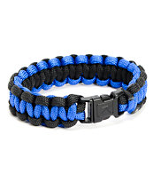 Rothco Paracord Royal Blue & Black Bracelet