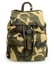 Rothco Woodland Camo Canvas Rucksack Backpack