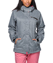 Roxy Band Camp 10K Grey Girls Snowboard Jacket 2014