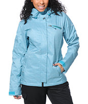 Roxy Band Camp Blue 10K Girls 2014 Snowboard Jacket