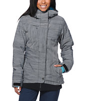 Roxy Bring It On Grey 10K Women's 2014 Snowboard Jacket