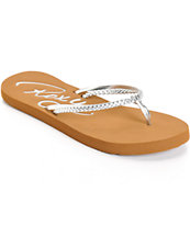 Roxy Cabo Silver Sandals