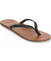 Roxy Chia II Black Sandals