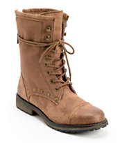 Roxy Concord Brown Leather Boots
