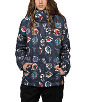 Roxy Jetty Blue Floral 10K Snowboard Jacket