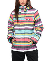 Roxy Jetty Poolside Stripes 10K Snowboard Jacket