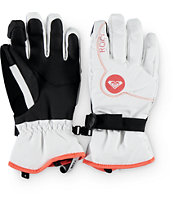 Roxy Jetty White Snowboard Gloves