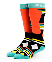 Roxy Jingle Bells Black & Neon Snowboard Sock