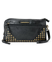 Roxy Looker Black Studded Wristlet