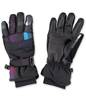 Roxy Mouna Girls Black Snowboard Gloves 2014