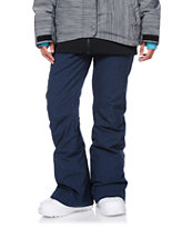 Roxy Nadia Navy Textile 10K Girls 2014 Snowboard Pants