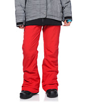 Roxy Nadia Red Textile 10K Girls 2014 Snowboard Pants