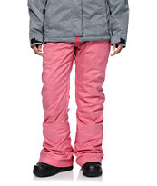 Roxy Nadia Red Textile 10K Girls Snowboard Pants 2014