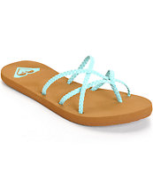 Roxy Oneeda Mint Braided Sandals