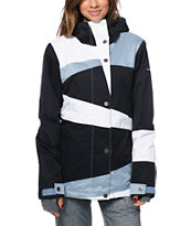 Roxy Rydell Black & White 10K Women's 2014 Snowboard Jacket