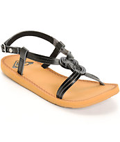 Roxy Solaris Black Sandals