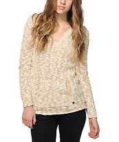 Roxy Warm Heart Hooded Poncho Sweater