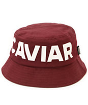 SSUR Caviar Cartel Burgundy Bucket Hat
