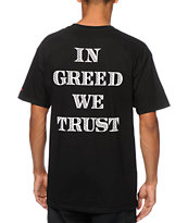 SSUR In Greed We Trust Tee Shirt
