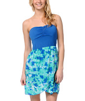 STS Blue Milky Way Highlow Strapless Dress