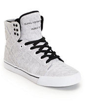 SUPRA Skytop White Pavement Canvas Shoe