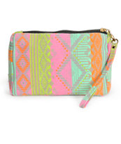 Sachi Neon Tribal Small Pouch