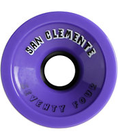 San Clemente Purple Summer Florescent 74mm Skateboard Wheels