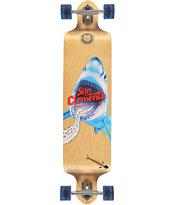 "San Clemente Shark Racer 41.25"" Drop Down Longboard Complete"