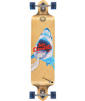 "San Clemente Shark Racer 41.25"" Drop Through Longboard Complete"