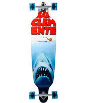 "San Clemente Shark Week 40"" Drop Through Longboard Complete"