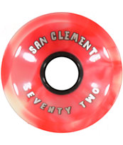 San Clemente Summer Classic 72mm Longboard Wheels