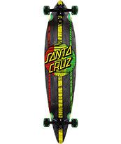 "Santa Cruz Mahaka Rasta 43.5"" Pintail Longboard Complete"