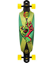 Santa Cruz Rasta Hand Jammin Drop Through 37 Complete Longboard