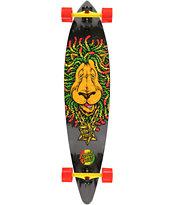 Santa Cruz Rasta Lion Pintail 43.5 Longboard Complete