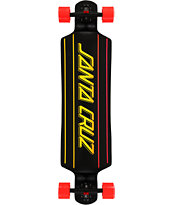Santa Cruz Stripe Faded 40.0 Drop Through Longboard Complete