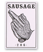 Sausage Praying 206 Square Sticker
