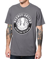 Secret Artist Secret Seal Charcoal Tee Shirt