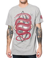 Secret Artist Twisted Snake Grey Tee Shirt