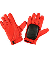 Sector 9 Driver Red Leather Slide Gloves