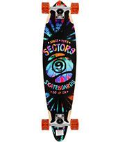 """Sector 9 Guru Tie Dye 34.5"""" Pintail Longboard Complete"""