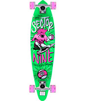 "Sector 9 x Sunset The Swift Green 34.5"" Longboard Complete"